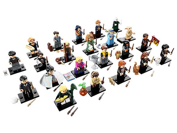 Create your own spellbinding stories with the Harry Potter™ and Fantastic Beasts™ collection, featuring 22 Limited Edition minifigures, each with one or more accessories, collector's leaflet and display baseplate.