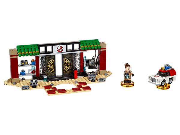 Fight off ghosts in the LEGO® DIMENSIONS™ multiverse with this Ghostbusters™ Story Pack, featuring six new game levels, a buildable Abby minifigure, 3-in-1 Ecto-1, and Zhu's Chinese Restaurant gateway build.