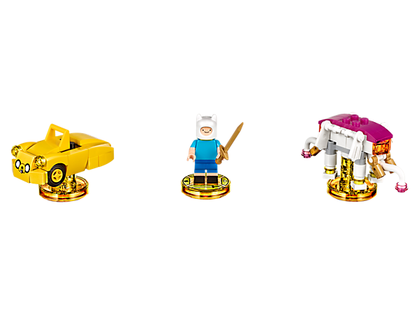 Go on a journey in the LEGO® DIMENSIONS™ multiverse with this Adventure Time™ Level Pack, featuring a buildable Finn minifigure, plus 3-in-1 Ancient War Elephant and Jakemobile vehicles, and a new game level.