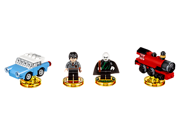 Bring the Wizarding World to life in the LEGO® DIMENSIONS™ multiverse with this Harry Potter™ Team Pack, featuring buildable Harry Potter and Lord Voldemort™ minifigures, plus two 3-in-1 vehicles, and an Adventure World with a Battle Arena.
