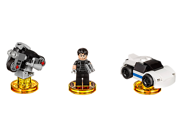 Find the true villain in the LEGO® DIMENSIONS™ multiverse with this Mission: Impossible™ Level Pack, featuring a buildable Ethan Hunt minifigure, plus 3-in-1 IMF Sport Car and IMF Scrambler vehicles, and a new game level.