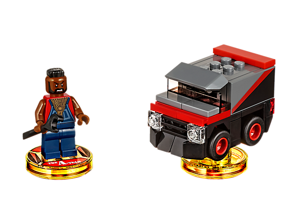 Smash your way through the LEGO® DIMENSIONS™ multiverse with this A-Team™ Fun Pack, featuring buildable B.A. Baracus, plus B.A.'s Van, and an Adventure World with a Battle Arena.