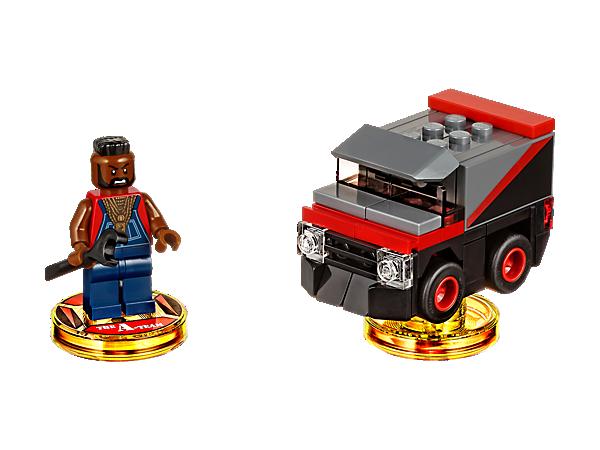Ábrete paso a puñetazos por el multiverso de LEGO® DIMENSIONS™ con el Fun Pack A-Team™, que incluye a B. A. Baracus, la B. A.'s Van y un mundo de aventura con un escenario de combate.
