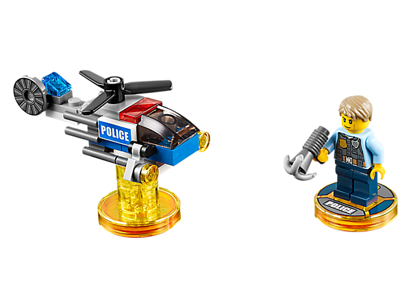 <p>Enhance your LEGO® DIMENSIONS™ mash-up adventure with the LEGO City Fun Pack, featuring Chase McCain, 3-in-1 Police Helicopter vehicle, and a LEGO City Adventure World with a Battle Arena!</p>