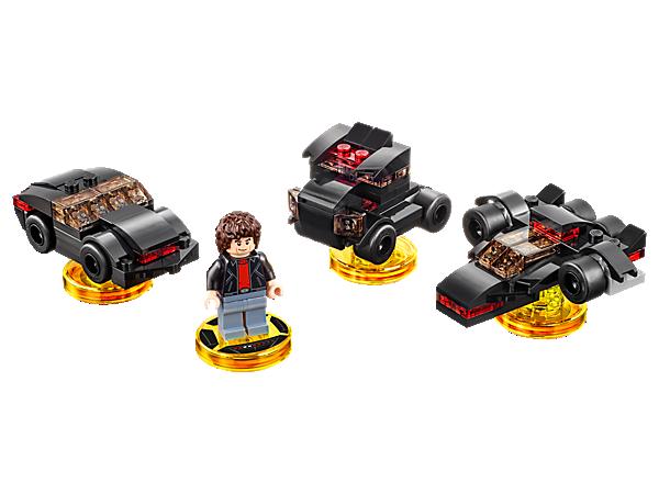 Steigere dein LEGO® DIMENSIONS™ Mischmasch-Abenteuer mit dem Knight-Rider™-Spaß-Paket, mit Michael Knight, einem 3-in-1-K.I.T.T.-Fahrzeug und einer Knight-Rider-Abenteuerwelt & Kampfarena!