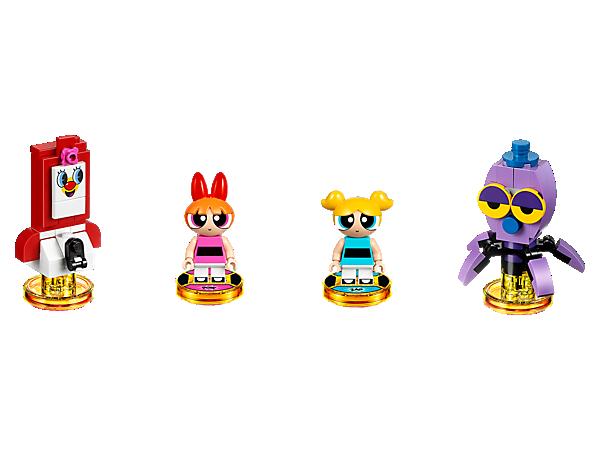 Füge deinem LEGO® DIMENSIONS™ Mischmasch-Abenteuer etwas Chemical X hinzu mit diesem The Powerpuff Girls™ Team-Pack, mit Minifiguren von Blossom™ und Bubbles™, plus zwei wandelbaren 3-in-1-Fahrzeugen und einer Abenteuerwelt mit Battle Arena.