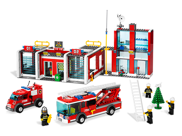 Team up with the brave LEGO® City firefighters and get ready to respond to the next alarm at the award-winning Fire Station!
