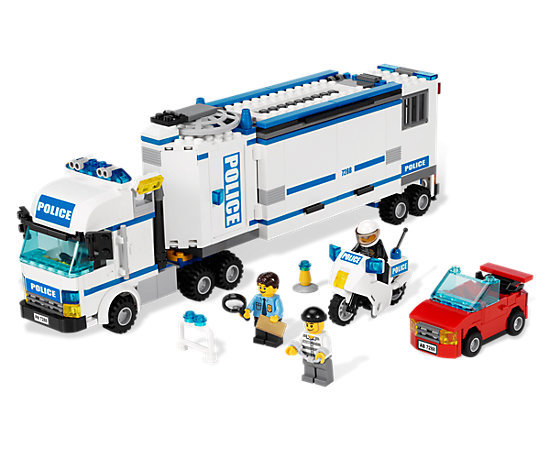 Mobile police unit 7288 city lego shop - Camion lego city police ...