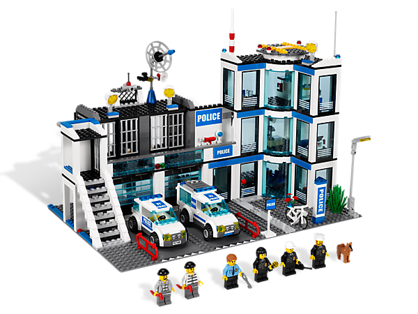 Restore law and order in LEGO® City with this feature-packed set, including evidence room, kennel, secret compartment and more!