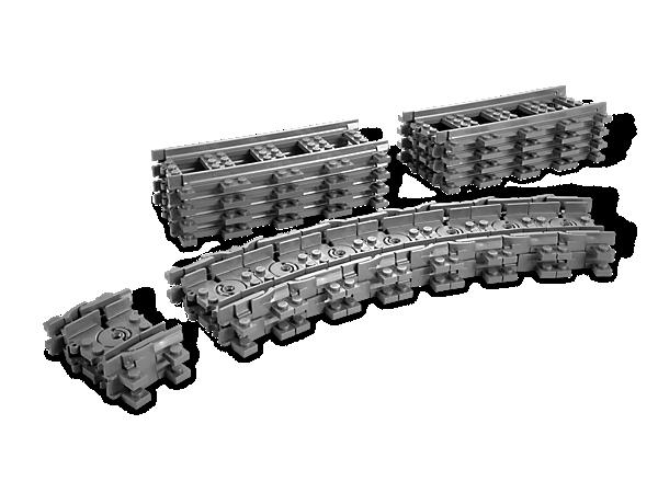 ¡Con este set de 8 vías rectas y 16 vías flexibles, no habrá ningún obstáculo que impida a tus motores circular por formas complejas o en cualquier parte!