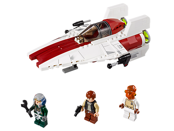 Go into battle against the Imperial Fleet with Admiral Ackbar, Han Solo and a Rebel pilot in the fierce Rebel Alliance A-wing Starfighter!