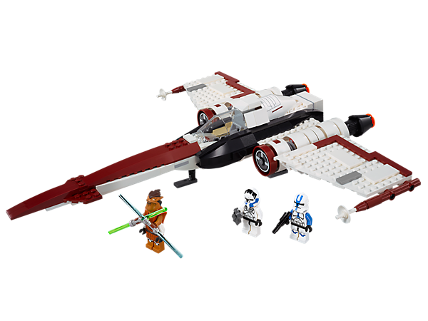 Invade the Separatist skies with the Z-95 Headhunter™ starfighter with retractable landing gear, a LEGO® Technic shooter and more!