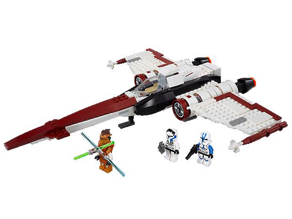 Envahis le ciel séparatiste avec le stafighter Z-95 Headhunter™ doté d'un train d'atterrissage rétractable, d'un canon LEGO® Technic et plus encore !