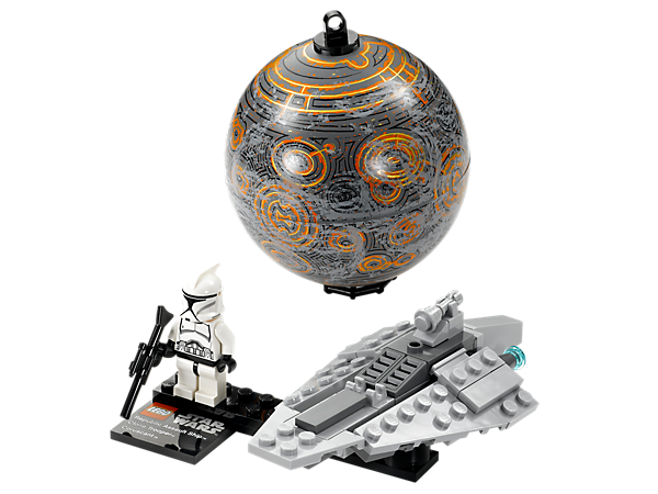Build, collect and display the Republic Assault Ship™ mini-model, Clone Trooper minifigure and a hangable planet Coruscant™!