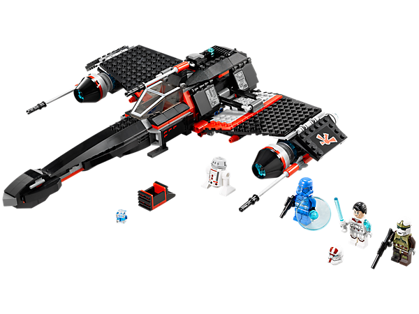 <p>Chase LEGO® <i>Star Wars</i>™ Jek-14's™ Stealth Starfighter with retractable landing gear, opening cockpit, folding wings, flick missiles and more!</p>