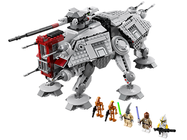 <p>Build the LEGO® <i>Star Wars</i>™ AT-TE™ with lifting handle, poseable legs, moving laser cannons and top projectile cannon with 2 flick missiles!</p>
