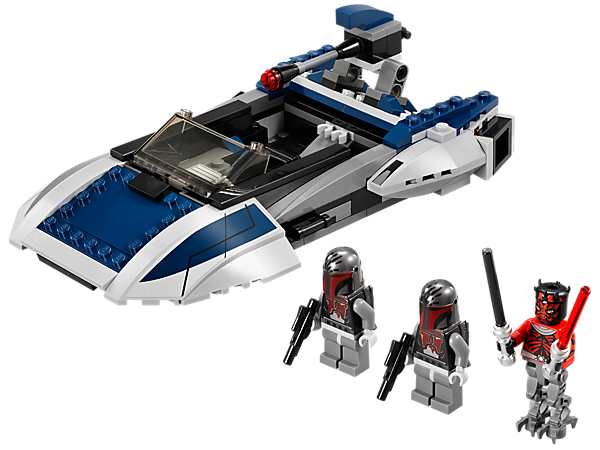Lead the attack with a Darth Maul minifigure with mechanical legs and his Mandalorian™ Speeder with flick missiles and an elevating cannon!
