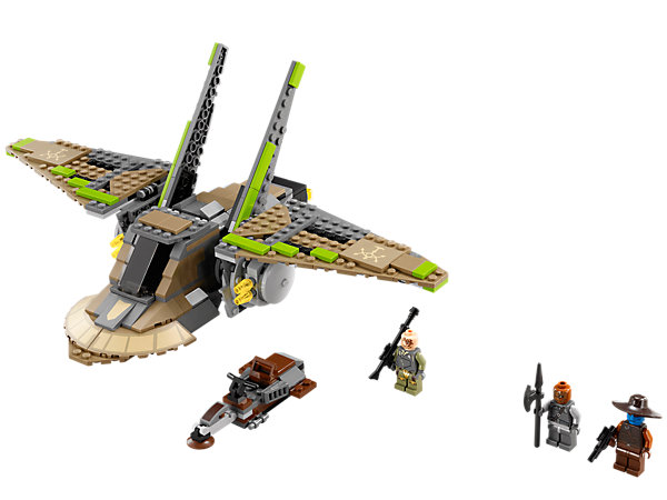 <p>Go after Cad Bane in the LEGO® <i>Star Wars</i>™ HH-87 Starhopper™ with opening cockpit, 4 flick missiles, cool folding wings and pirate speeder!</p>