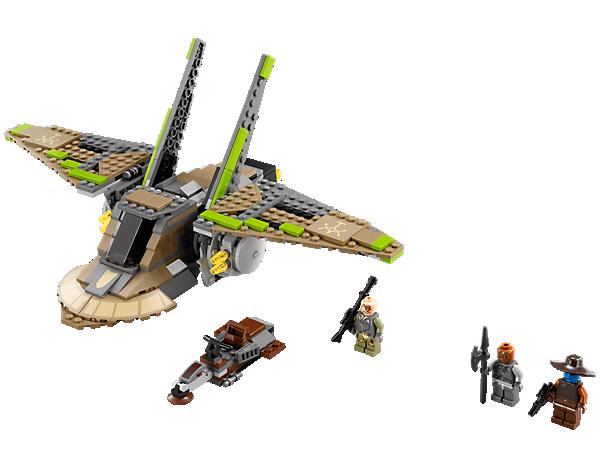 <p>Hefte dich mit dem LEGO®<i> Star Wars™</i> HH-87 Starhopper™ an Cad Banes Fersen – mit Cockpit zum Öffnen, 4 Raketen, coolen Flügeln zum Einklappen und Piraten-Speeder!</p>