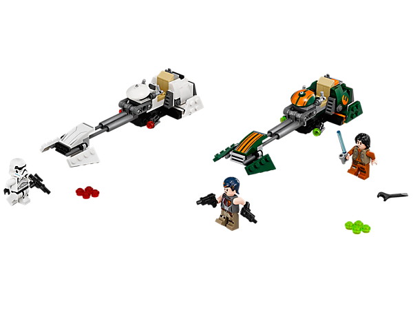 <p>Explore product details and fan reviews for Ezra's Speeder Bike™ 75090 from Star Wars™. Buy today with The Official LEGO® Shop Guarantee. </p>