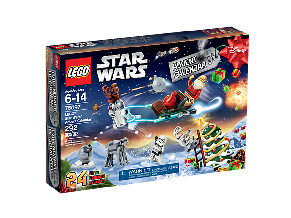 Reveal minifigures, starships, vehicles and more with the LEGO® Star Wars Advent Calendar with 24 doors and a fold-out playmat.