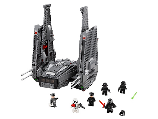<p>Go in search of the enemy with Kylo Ren's Command Shuttle™ with storage bays, spring-loaded shooters, amazing extending wing function and more.</p>