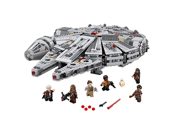 Aim for the stars with the Millennium Falcon featuring streamlined design, detachable cockpit, spring-loaded shooter, holochess board and lots more.