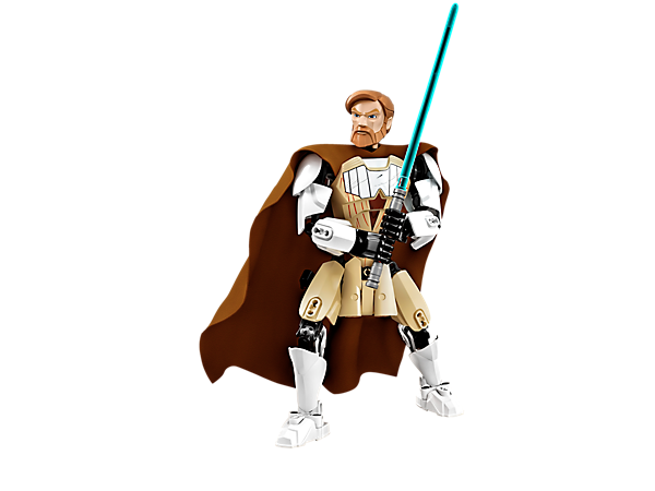 <p>Collect Obi-Wan Kenobi™ with posable limbs, white Clone armour, fabric cape, buildable blue Lightsaber and a holster with Lightsaber handle.</p>
