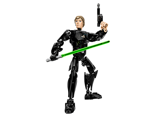 <p>Build Luke Skywalker™ with posable limbs, buildable green Lightsaber and blaster pistol, handcuffs and holster with extra Lightsaber handle.</p>