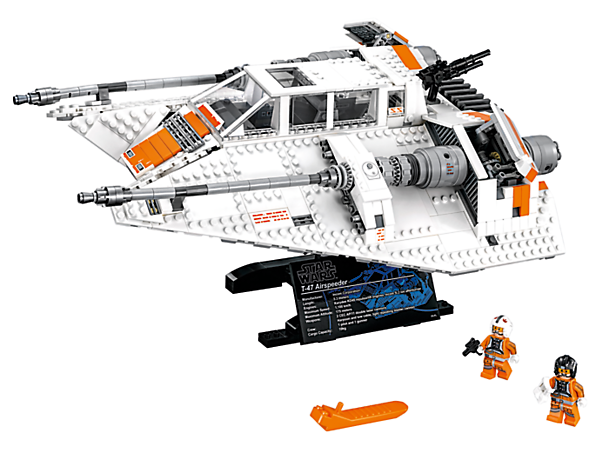 Own your own LEGO® version of a <i>Star Wars</i> classic—the T-47 Snowspeeder, featuring opening airbrakes, opening cockpit, rotating rear gun and 2 classic minifigures.