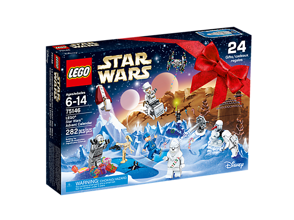 Feel the Force this holiday season with the LEGO® <i>Star Wars</i> Advent Calendar, with 24 gifts including minifigures, starships, vehicles and other themed collectibles.