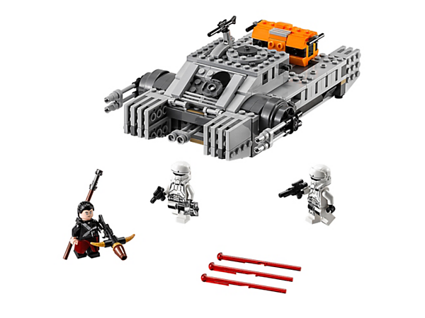 <p>Operate the Imperial Assault Hovertank with armor-plate detailing, turret gun with spring-loaded shooters, elevating side guns, storage bays, opening minifigure cockpit and hover-look wheels.</p>