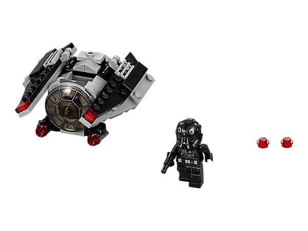 Battle Rebel forces with this TIE Striker Microfighter with folding wings, dual stud shooters and space to seat the included TIE Pilot with his weapon.