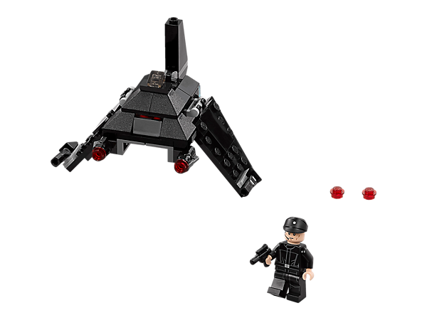 <p>Fly into battle with Krennic's Imperial Shuttle Microfighter with folding wings, dual stud shooters and space to seat the included Imperial Shuttle Pilot with his blaster pistol.</p>
