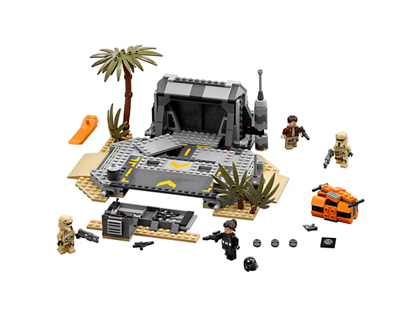 Storm the beach bunker and take the Death Star plans, with exploding floor panels, sliding and locking bunker doors, weapons stash, opening orange crate and four minifigures.
