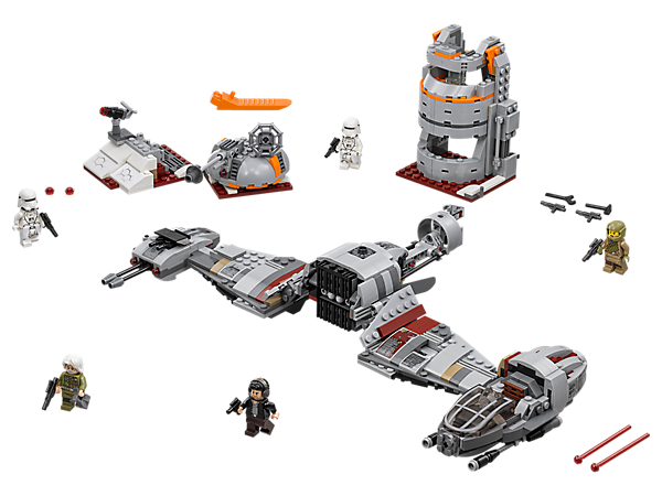 Repel the First Order with the Resistance Ski Speeder, featuring spring-loaded shooters and minifigure cockpit, plus a command tower, weaponized trench build and 5 minifigures.