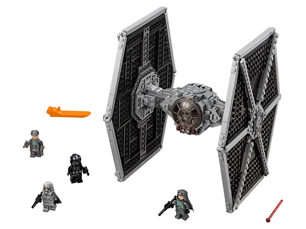 Play out Han Solo movie adventures with the LEGO® Star Wars Imperial TIE Fighter, featuring sturdy wings, 2 spring-loaded shooters and opening minifigure cockpit with access hatch, plus 4 minifigures.