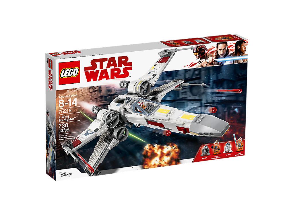 乐高星球大战75218 X翼星际战斗机亚马逊