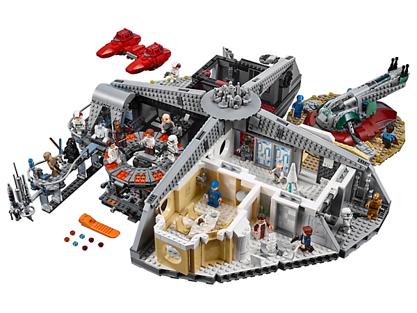 Live out LEGO® Star Wars Cloud City adventures with this set featuring a carbon freeze chamber, interrogation chamber, landing platforms, sensor balcony, 18 minifigures, 2 droids, 2 ships and much more!