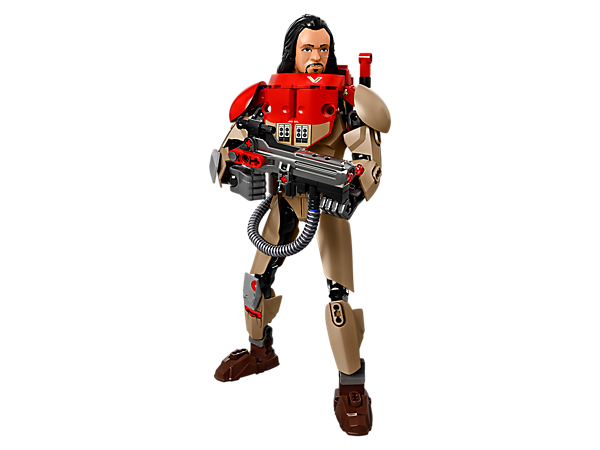 <p>Clash with the Imperial forces with buildable and highly posable Baze Malbus with red chest and shoulder armor, heavy cannon with spring-loaded shooter, spare ammo and 'power' canister.</p>