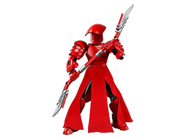 Mit dem Elite Praetorian Guard erlebst du superspannende Action, denn die baubare und äußert bewegliche Figur trägt eine rote Rüstung, eine Stoffschürze und einen Klingenstab. Wenn du den Hebel auf dem Rücken betätigst, kannst du die Arme schwingen lassen.