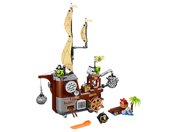 Explore product details and fan reviews for Piggy Pirate Ship 75825 from Angry Birds. Buy today with The Official LEGO® Shop Guarantee.