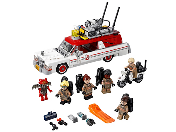 You know who to call with the LEGO® Ghostbusters™ Ecto-1 & 2 vehicles! Speed after the demon, put on the proton packs and zap away in this fun set based on the 2016 Ghostbusters™ movie. Includes 5 minifigures.