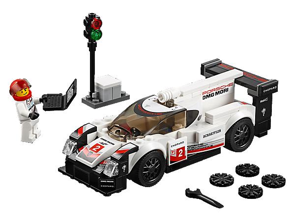 Fahr mit dem LEGO® Speed Champions Porsche 919 Hybrid rund um die Uhr! Mit authentischen Designdetails und Cockpit für eine im Lieferumfang enthaltene Minifigur plus Start-/Ziel-Posten und Laptop-Element.