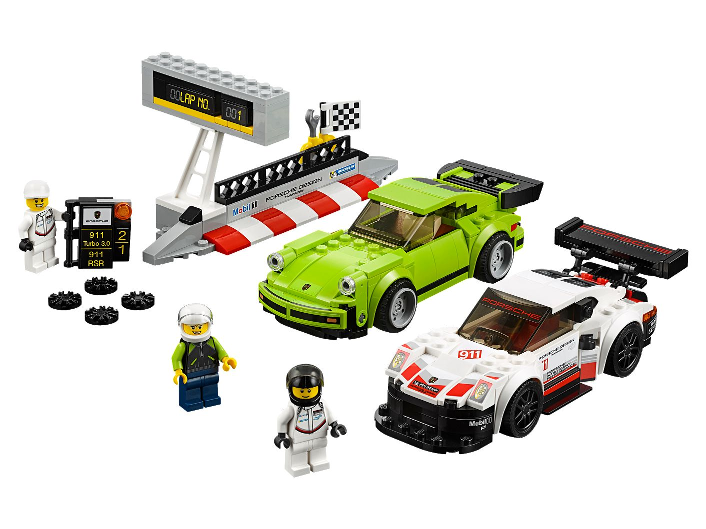 porsche 911 rsr and 911 turbo 3 0 75888 speed champions buy online at the official lego shop us. Black Bedroom Furniture Sets. Home Design Ideas