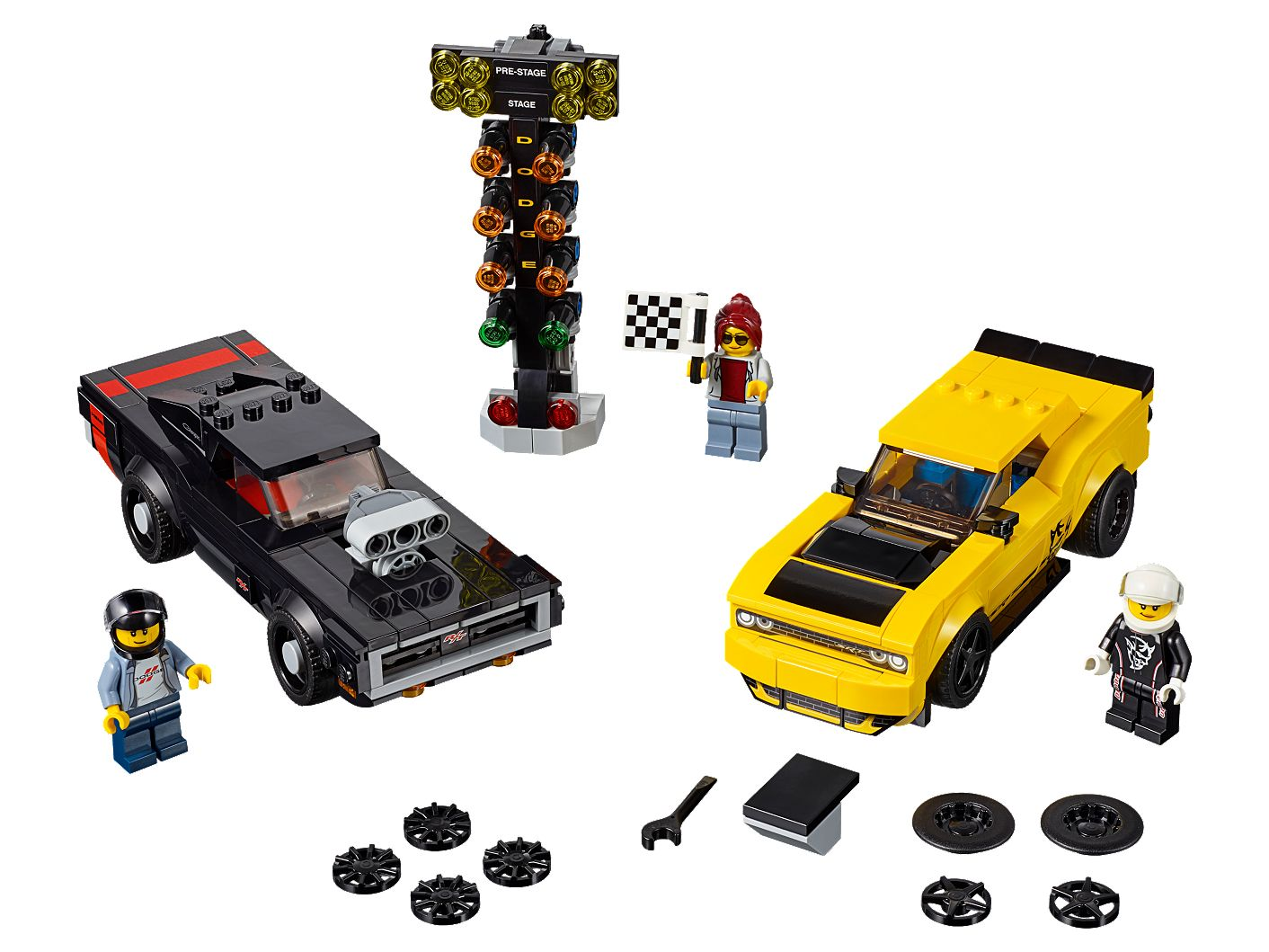 2018 Dodge Challenger SRT Demon and 1970 Dodge Charger R/T 75893 | Speed  Champions | Buy online at the Official LEGO® Shop US