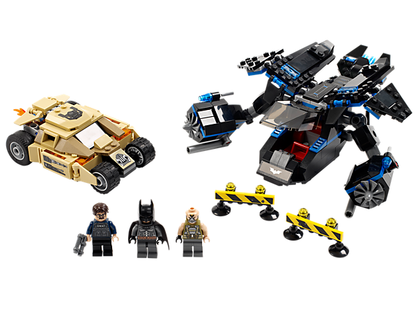<p>Help <i>Batman</i>™ rescue Commissioner Gordon in The Bat with a rescue rope and dual flick missiles built for defeating Bane and the Tumbler!</p>