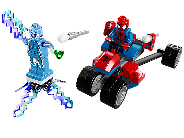 Do battle with Spider-Trike vs. Electro as Spider-Man tries to bring down Electro with flick missiles and a powerful ejector seat!