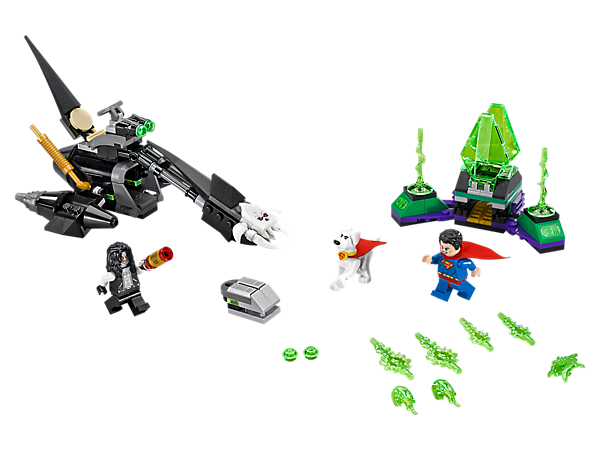 Escape Kryptonite prison with this Superman™ & Krypto™ Team-Up set, featuring Lobo's Space Hog bike, buildable red Energy Infuser, Power Burst elements, 2 minifigures and Krypto figure.