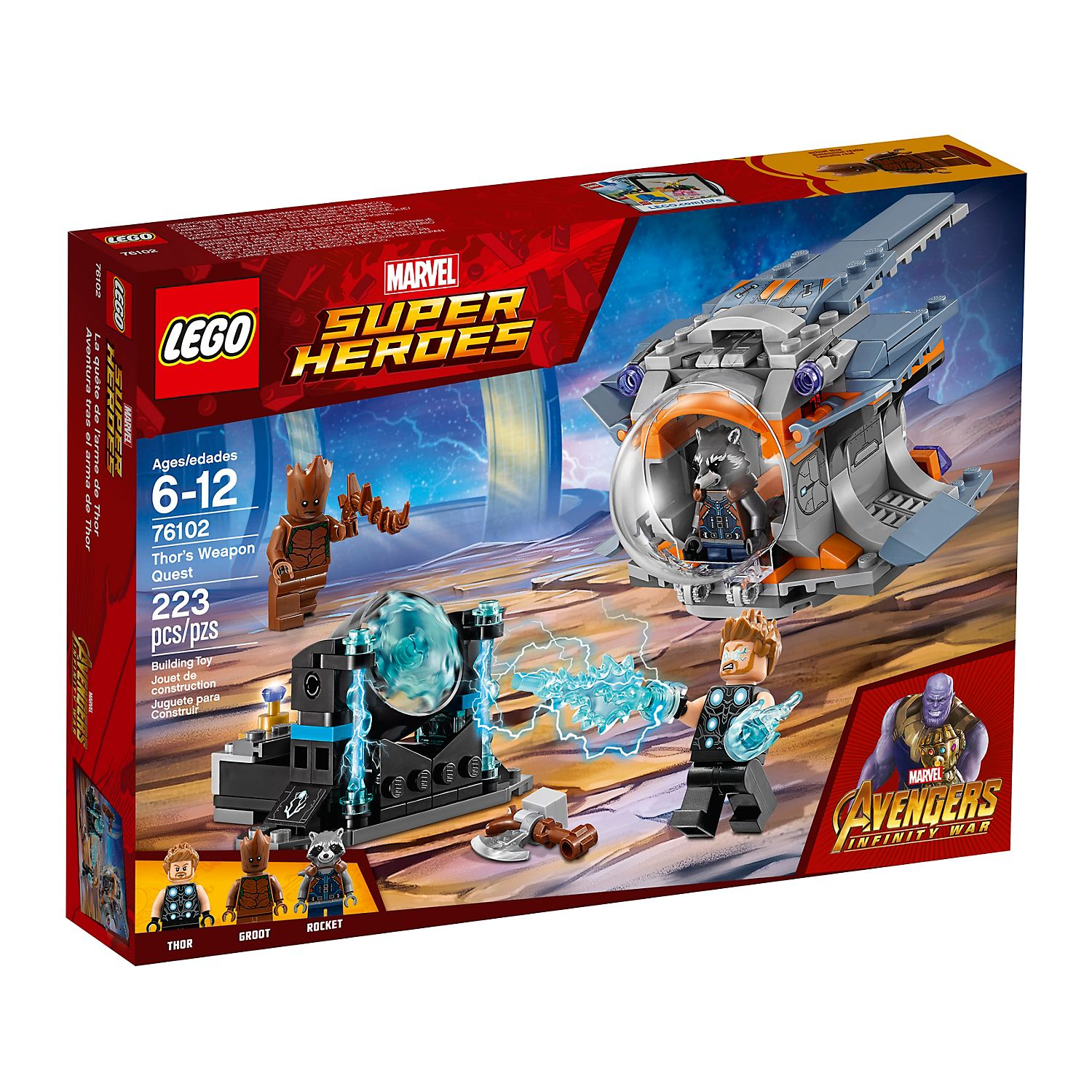 Thor's Weapon Quest 76102   LEGO® Marvel   Buy online at the Official LEGO®  Shop US